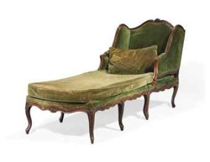 Chaise Longue, Louis XV,Decorative Glossary, French Furniture, www.CourtneyPrice.com