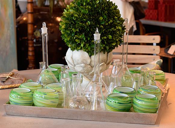 Green Votives on www.CourtneyPrice.com