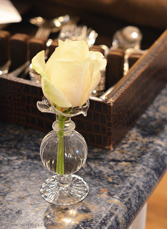 single Rose, elegant details of entertaining, on www.CourtneyPrice.com