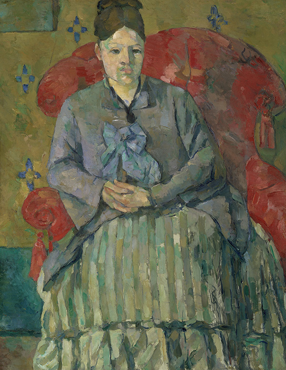 Cezanne_Madame-Cezanne-in-a-Red-Armchair_MFA-Boston at the Metropolitan Museum of Art on www.CourtneyPrice.com