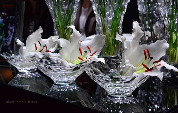 Riedel Bloom Vases,Dining Trends on www.CourtneyPrice.com