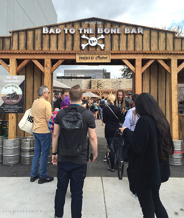 Bad To The Bone Bar, mophie lodge, sxsw, sxsw mophie, mophie rescue, branding lesson