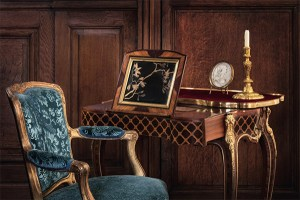 french desk, french dressing table, Chateau de Villette as seen on www.CourtneyPrice.com
