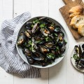 mussels in white wine, from Instantly French!, as seen on www.CourtneyPrice.com