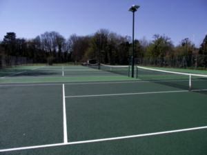 Four finished courts at Henley