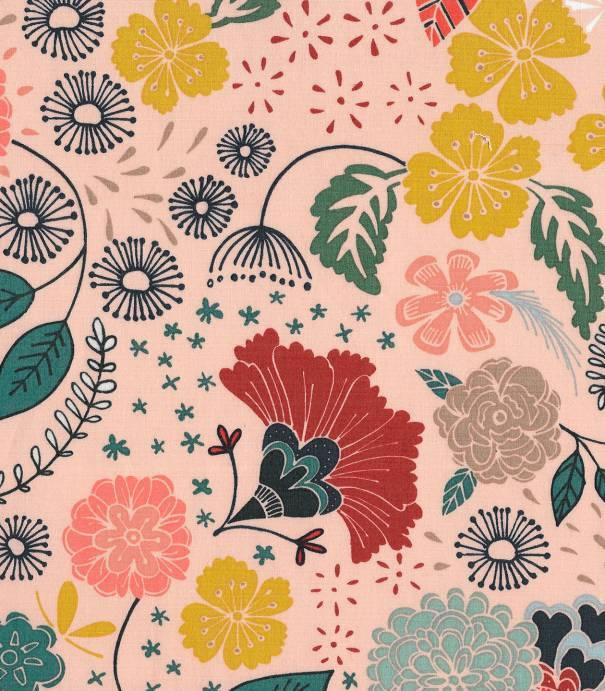 tissus motif fleurs