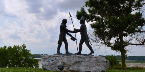 Statue near the site where Lewis and Clark met in 1803