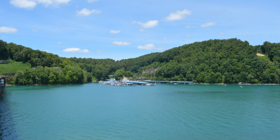The marina at Norris Dam Lake