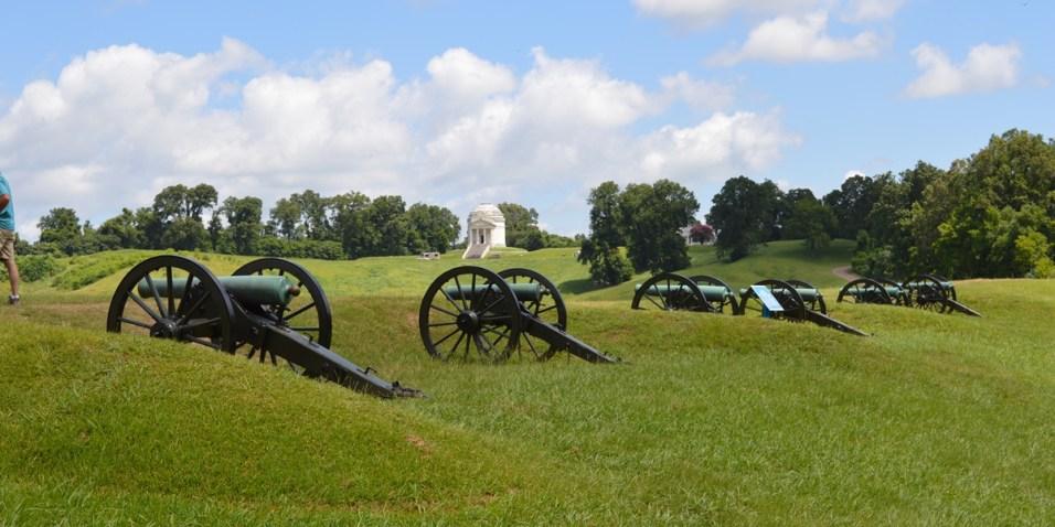 Vicksburg artillery line