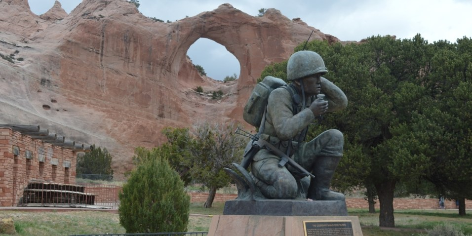 Window Rock and Navajo Code Talker Memorial