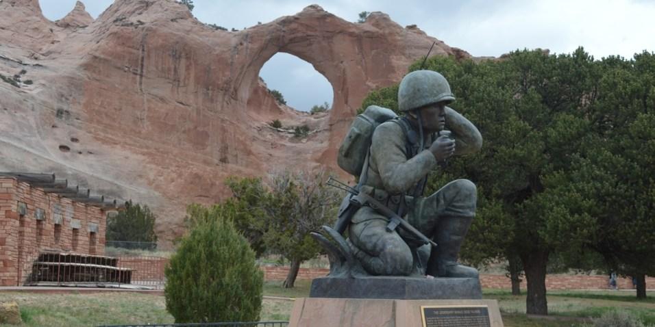Window Rock and Navajo Code Talker Memorial