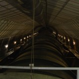 Huge pipes that feed water to the turbines inside Hoover Dam