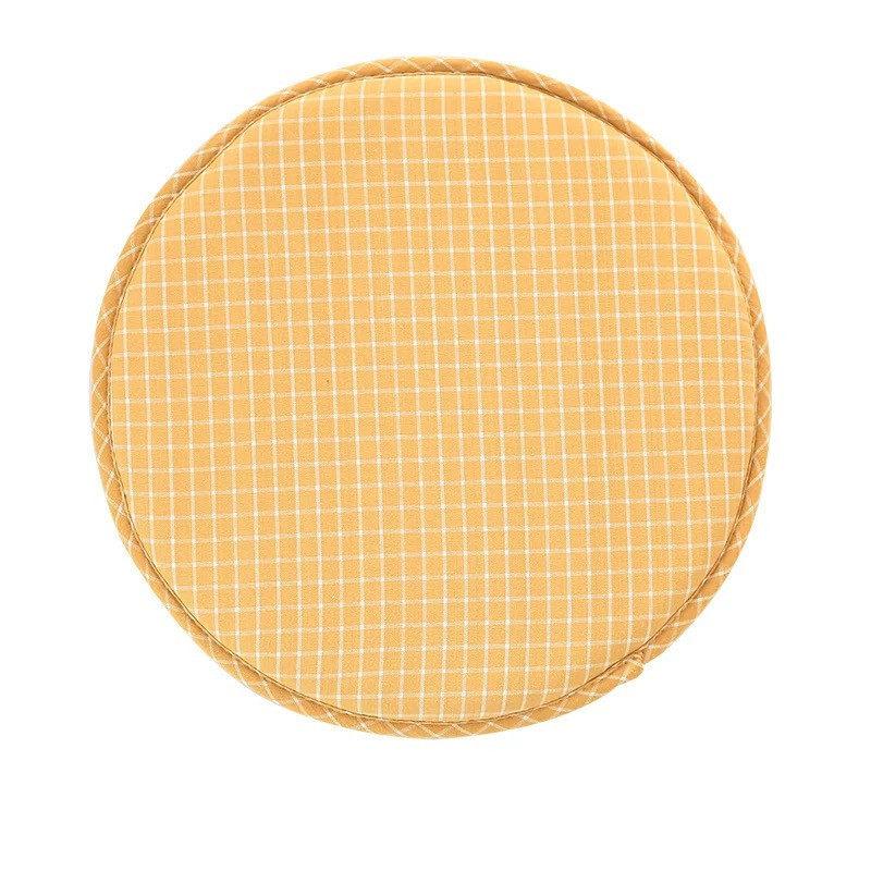 coussin de chaise rond jaune