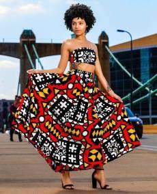 womens dashiki designs retro style gown