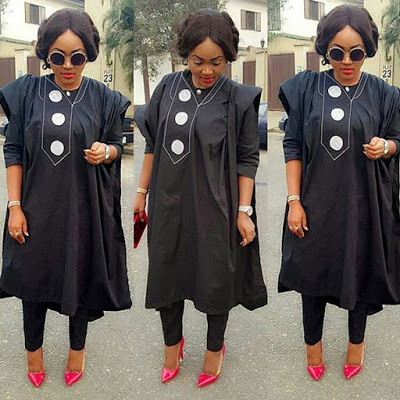 Trendy Agbada Styles For Females December 2017