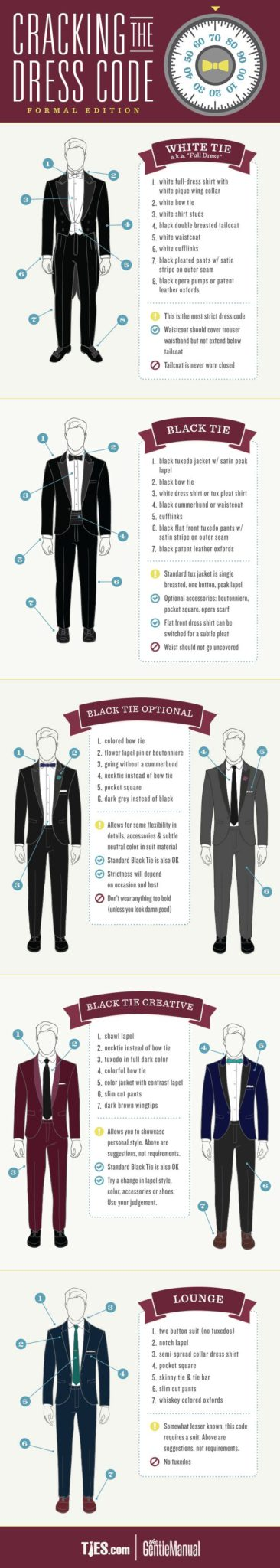 fashion info graphics ties and suit