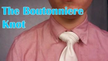 Cool Tie Knots boutonniere knot