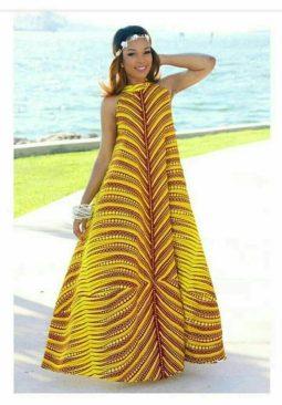 yellow ankara gown image