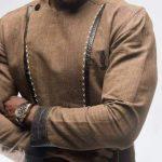 senator wear brown color plain design image