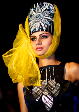 Fashion designs by Evgenia Luzhina-Salazar at Couture Fashion Week New York