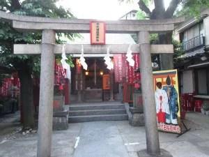 神社の顔出し看板