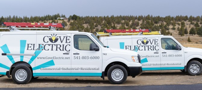 The new rigs of Cove Electric, Inc.
