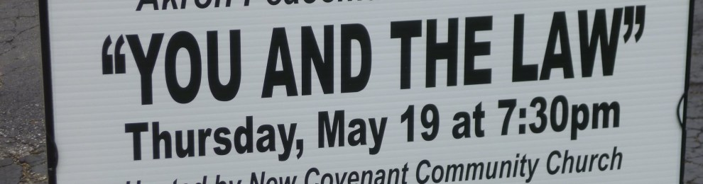 May 19th: Akron Peacemakers to Hold Seminar at Church