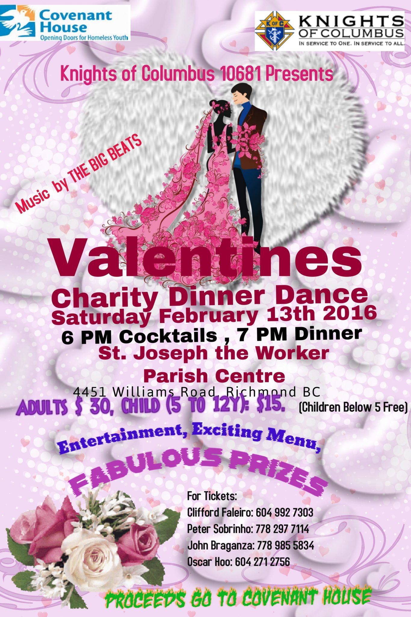 Valentines Dinner Amp Dance In Support Of Covenant House