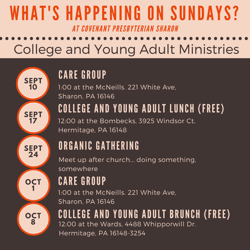 College and young adult opportunities
