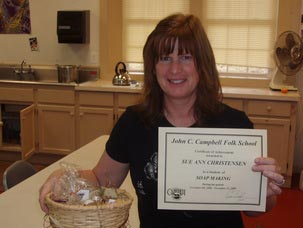 founder with soap making certificate - Our Story