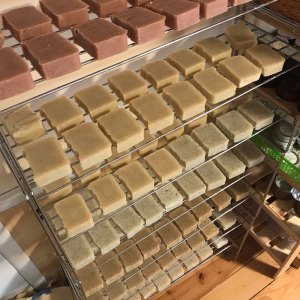 handmade soap on a rack - handmade-soap-on-a-rack