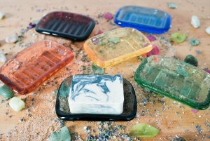 recycled glass soap dishes from california - recycled-glass-soap-dishes-from-california