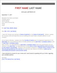 Skills Highlight Cover Letter Template