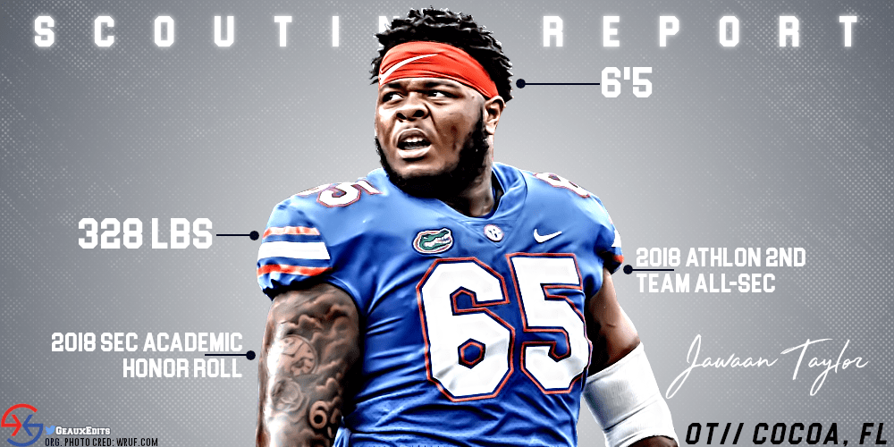 cheap for discount de4b3 ae453 Scouting Report   Jawaan Taylor, OT, Florida   Cover 1