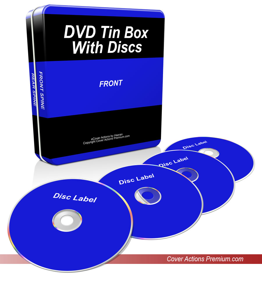 Download CD / DVD Tin Box with 4 Discs eCover Action - Cover ...