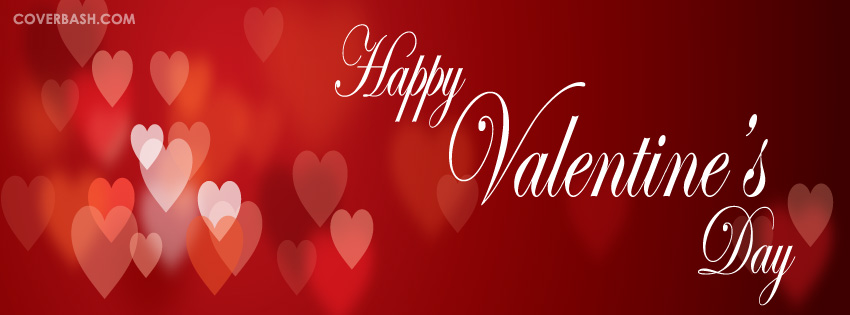 Heart Filled Valentines Day Facebook Cover