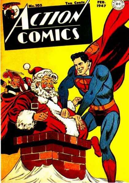 Superman aiuta Babbo Natale con in doni