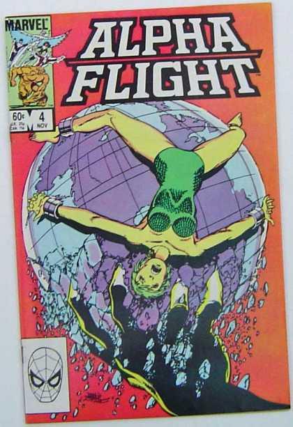 Alpha Flight 4 - Marvel Comics - Globe - Hand - Captured - Death - Clayton Henry, John Byrne