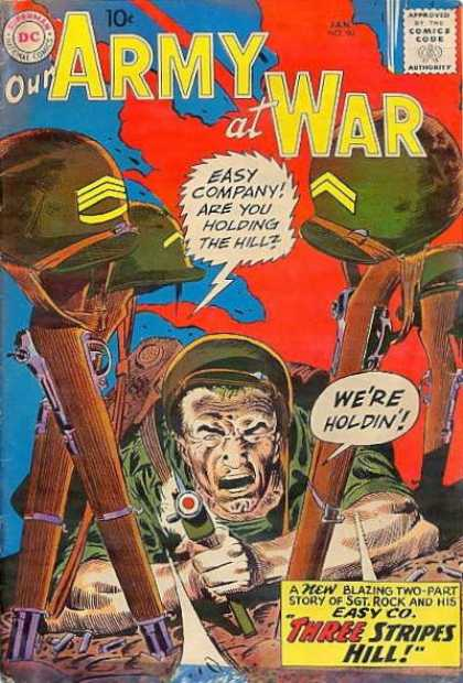 Our Army at War 90 - Easy Company - Dollar Comics - Superman - National Comics - Approved By The Comics Code Authority - Joe Kubert