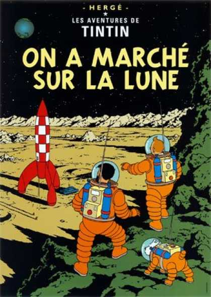 Tintin 17 - Planet - Space - Rocket - Moon Walkers - Astronauts