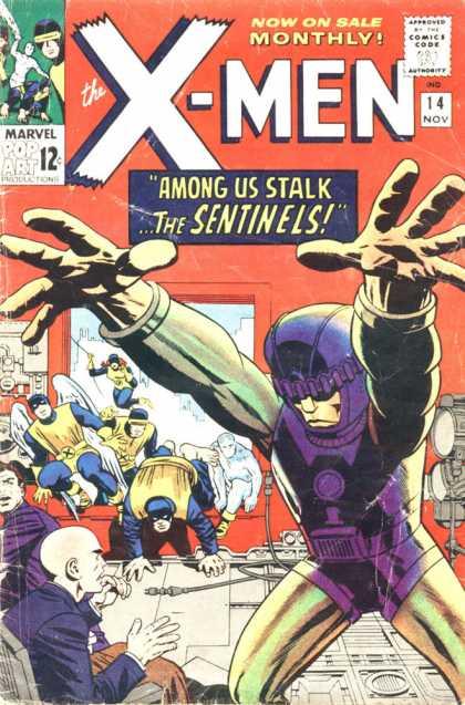 Uncanny X-Men 14 - Professor X - Beast - Angel - Jean Grey - Jack Kirby