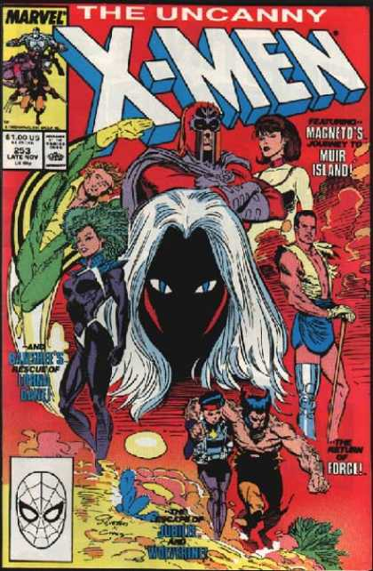 Uncanny X-Men 253 - Jubilee - Banshee - Forge - Magneto - Muir Island - Marc Silvestri