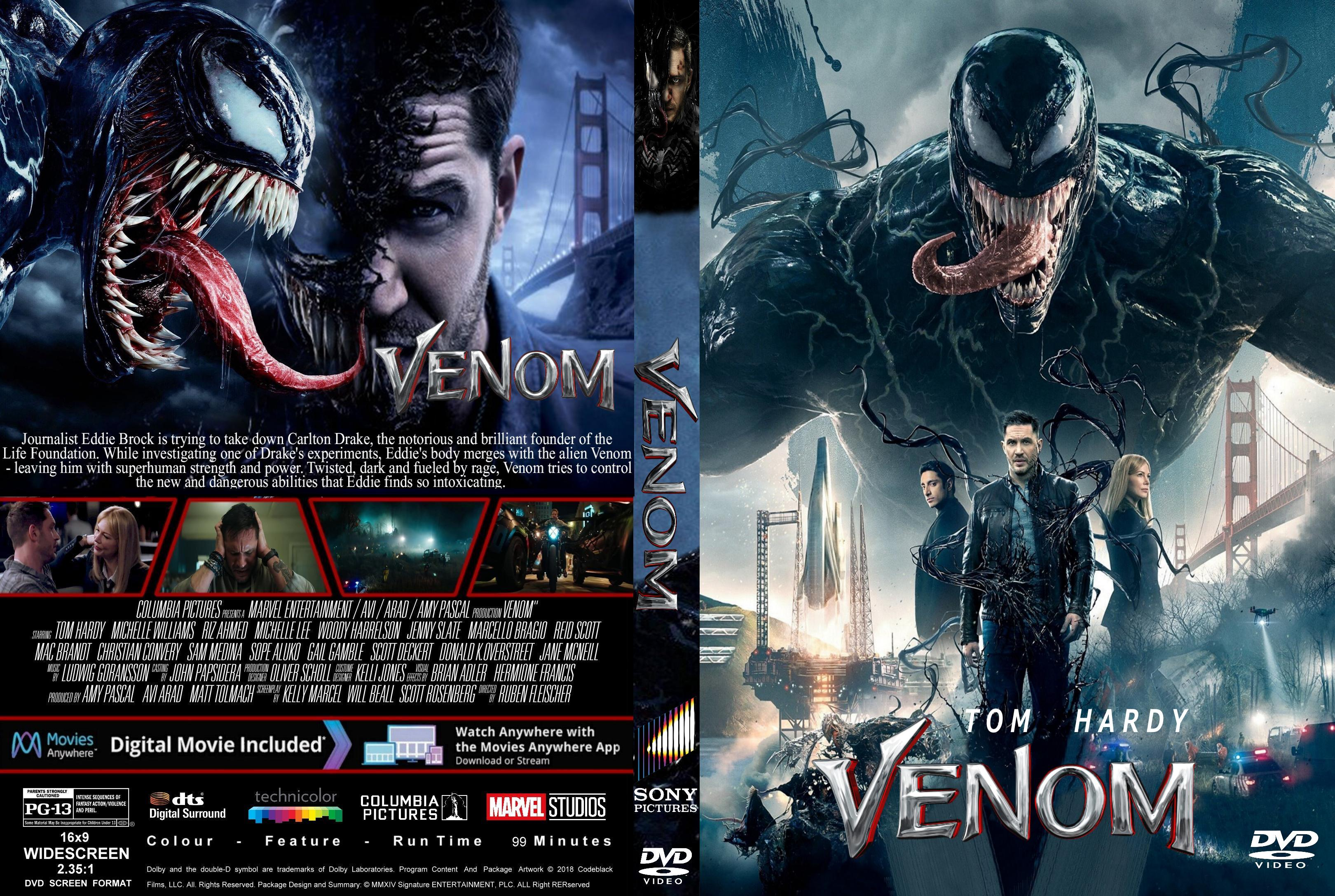 Venom 2018 Front DVD Covers Cover Century Over