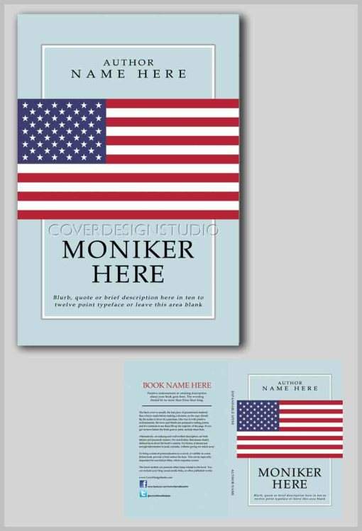 how to book cover american flag