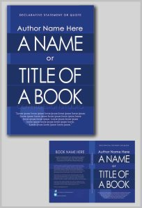 how to book cover with blue stripes
