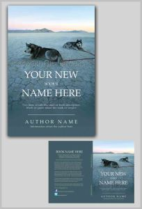 cool book cover with sled dogs