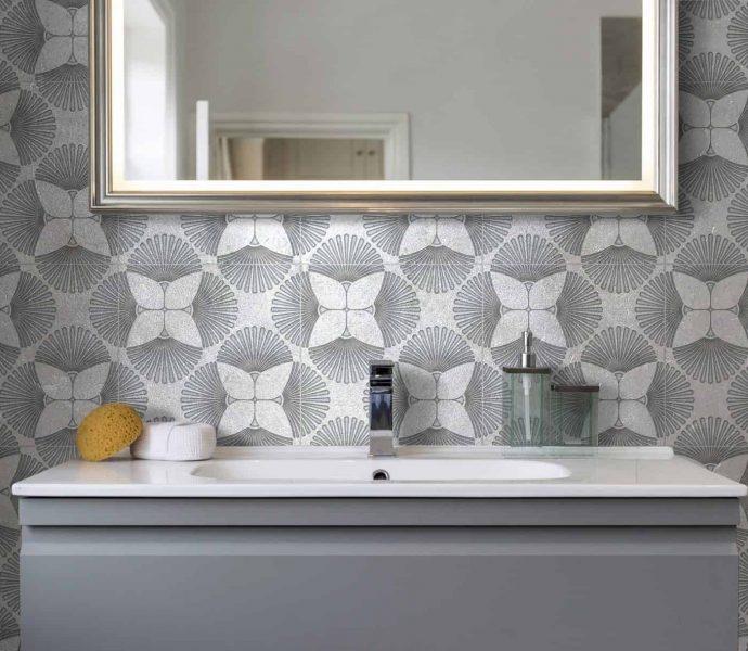 2019 tile trends geometric tiles