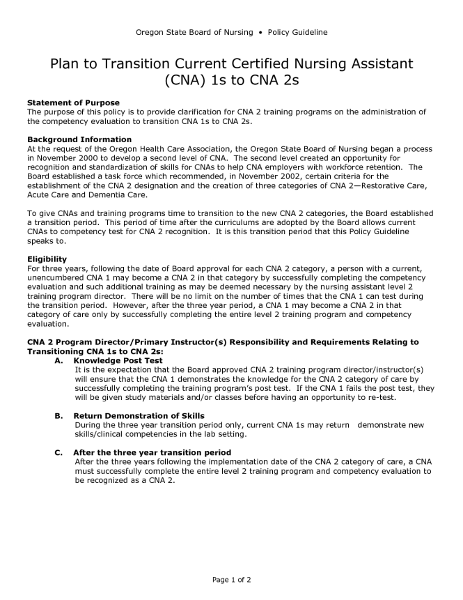 Certified Nursing Istant Resume Objective Lines For