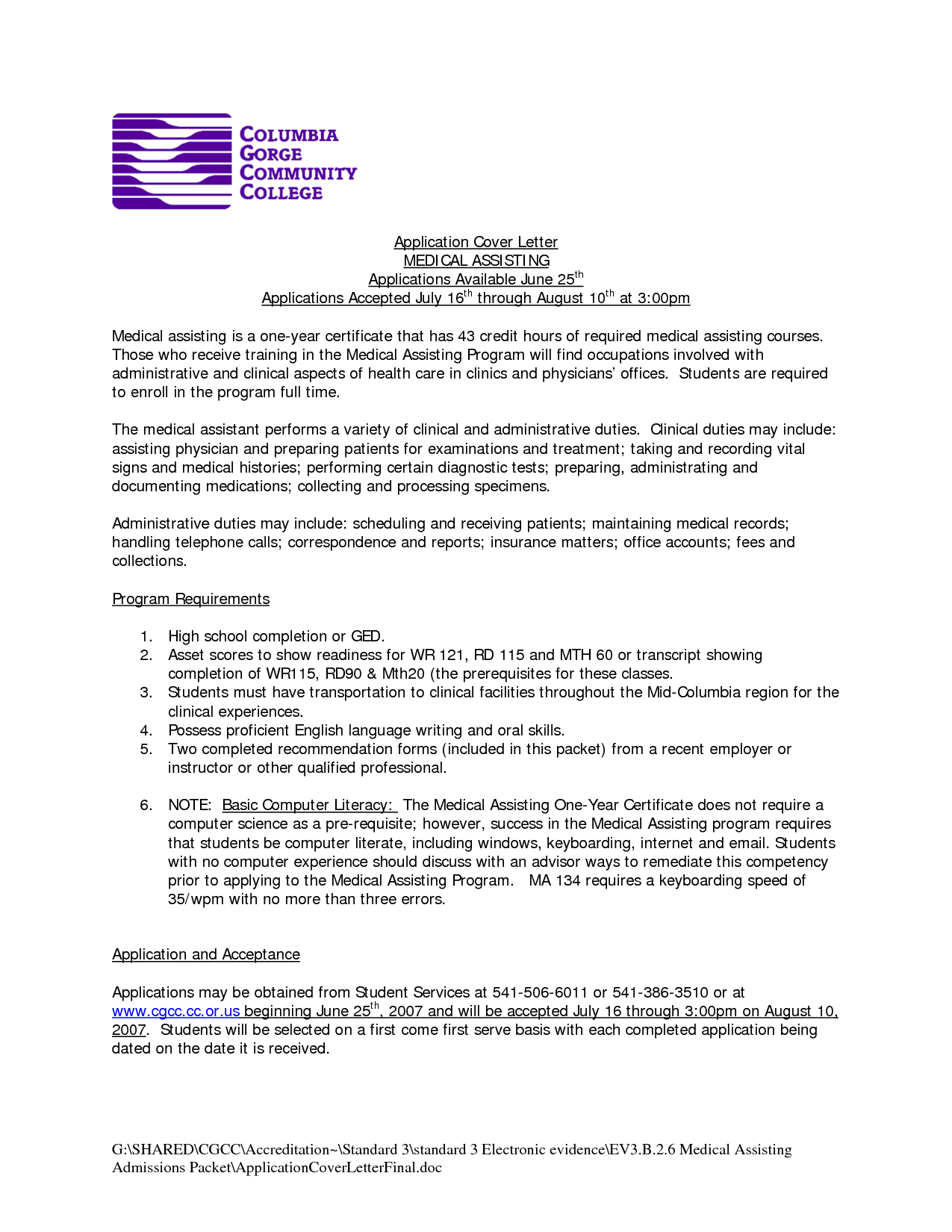 cover letter for medical assistant madratco