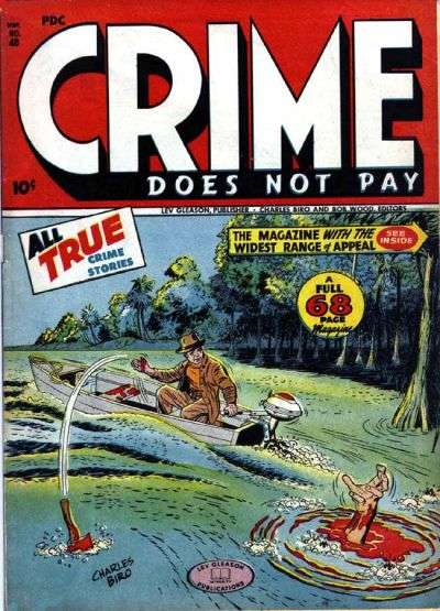 Image result for crime does not pay comic